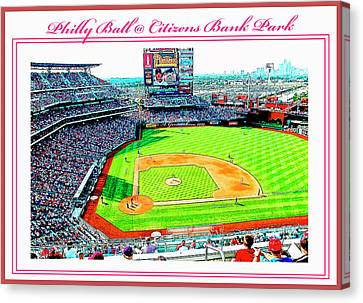 Baseball In Philly Canvas Print