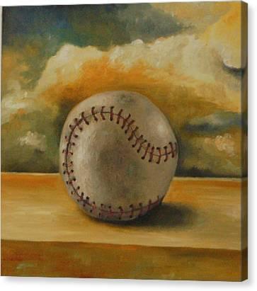 Baseball Canvas Print by Leah Saulnier The Painting Maniac