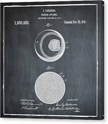 Baseball Patent 1916 Chalk Canvas Print by Bill Cannon