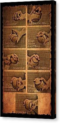 Baseball Pitching Styles Canvas Print