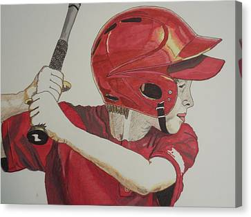 Baseball Ready 2 Canvas Print by Michael Runner