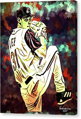 Baseball Sport Pitcher Cliff Lee Canvas Print