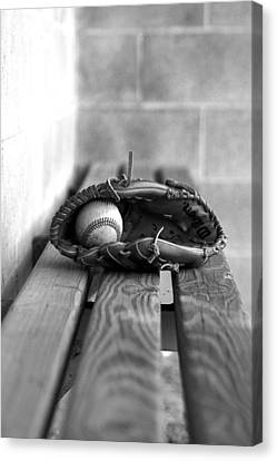 Baseball Still Life Canvas Print by Susan Schumann