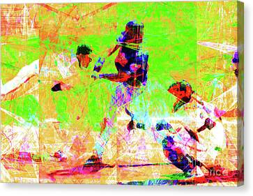 Baseball The All American Pastime 20160801 Canvas Print by Wingsdomain Art and Photography