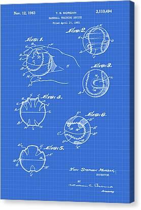 Baseball Training Device Patent 1961 Blueprint Canvas Print by Bill Cannon