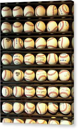 Autographed Art Canvas Print - Baseball - You Have Got Some Balls There by Mike Savad