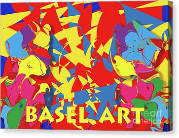 Basel Art, M6 Canvas Print by Johannes Murat