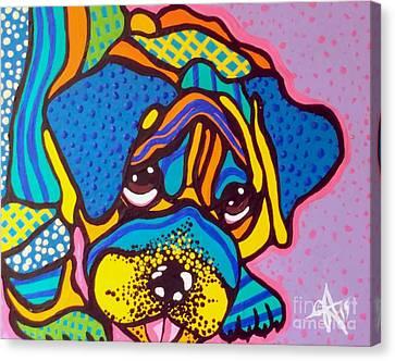 Bashful Dog Puppy Canvas Print