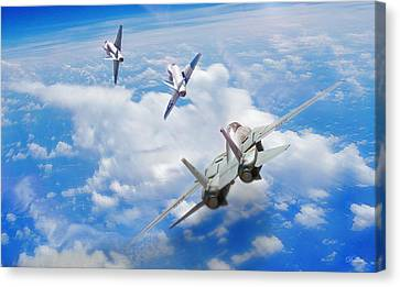 Basic Fighter Maneuvers Canvas Print by Dorian Dogaru