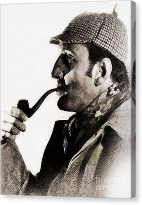 Glamor Canvas Print - Basil Rathbone As Sherlock Holmes by John Springfield