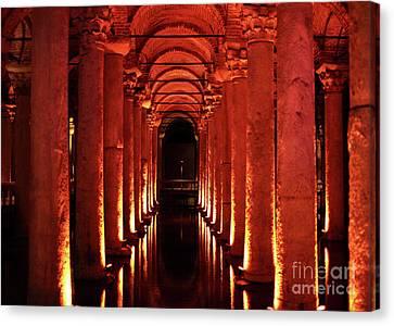 Sultanhmet Canvas Print - Basilica Cistern by John Rizzuto
