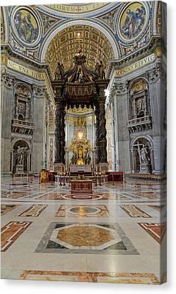 Basilica Di San Pietro. Rome, Vatican Canvas Print by Nicola Simeoni