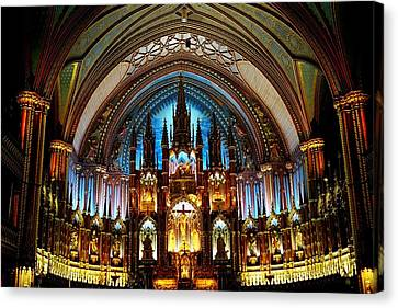Basilica Notre Dame - Mtl Canvas Print by Juergen Weiss