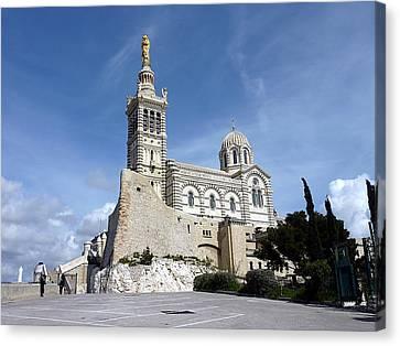 Basilica Notre-dame-de-la-garde, Marseilles, France Canvas Print by Elenarts - Elena Duvernay photo