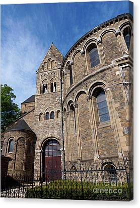 Limburg Canvas Print - Basilica Of Our Lady In Maastricht Netherlands by Louise Heusinkveld