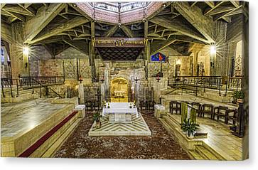 Basilica Of The Annunciation - Nazareth Canvas Print by Stephen Stookey