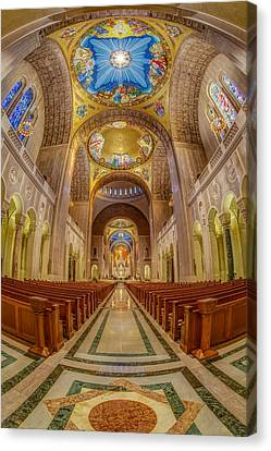 Basilica Of The National Shrine Of The Immaculate Conception II Canvas Print by Susan Candelario