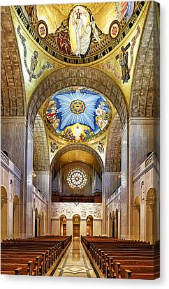 Basilica Of The National Shrine Of The Immaculate Conception - Interior Canvas Print by Brendan Reals