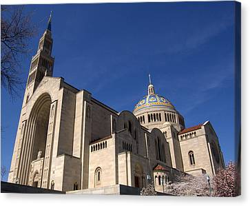 Basilica Of The National Shrine Of The Immaculate Conception Washington Dc Canvas Print by Wayne Higgs