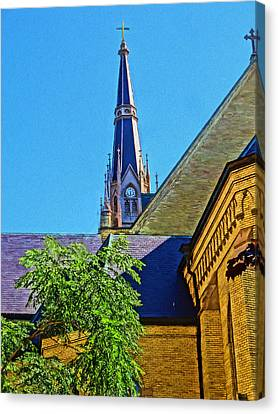 Basilica Of The Sacred Heart Notre Dame Canvas Print by Dan Sproul