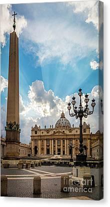 Saint Peter Canvas Print - Basilica Papale Di San Pietro by Inge Johnsson
