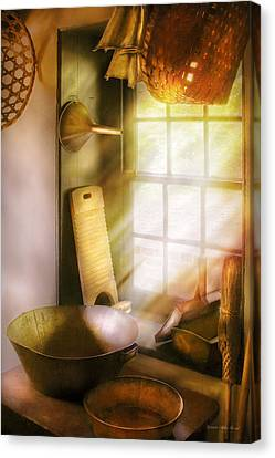 Basket Maker - In A Basket Makers House  Canvas Print by Mike Savad