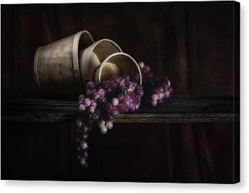 Basket Of Grapes Still Life Canvas Print