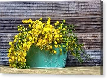 Basket Of Sunshine Canvas Print by Chrystyne Novack