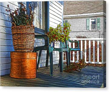 Canvas Print featuring the photograph Basket Porch by Betsy Zimmerli