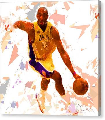 Canvas Print featuring the painting Basketball 24 A by Movie Poster Prints