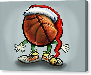 Basketball Christmas Canvas Print by Kevin Middleton