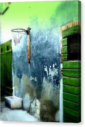 Basketball Court Canvas Print by Funkpix Photo Hunter