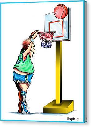 Basketball Dunk Canvas Print