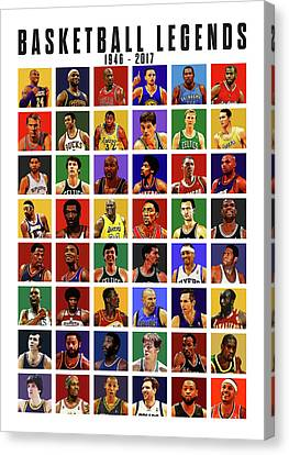 Julius Erving Canvas Print - Basketball Legends by Semih Yurdabak