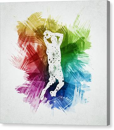 Basketball Player Art 07 Canvas Print by Aged Pixel