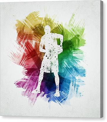 Basketball Player Art 18 Canvas Print by Aged Pixel