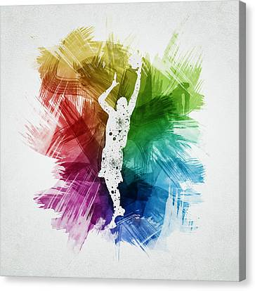 Basketball Player Art 24 Canvas Print by Aged Pixel