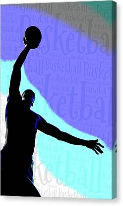 Basketball Poster Canvas Print by Bill Cannon