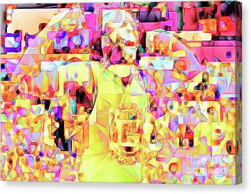 Basketball Power Flex In Abstract Cubism 20170328 Canvas Print