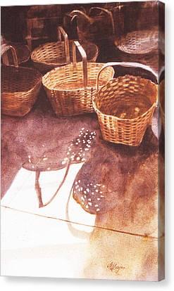 Baskets In The Sun Canvas Print