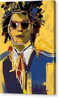 Basquiat Canvas Print by Stephanie Fonteyn