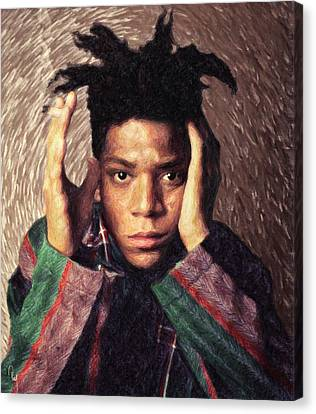 Basquiat Canvas Print by Taylan Apukovska