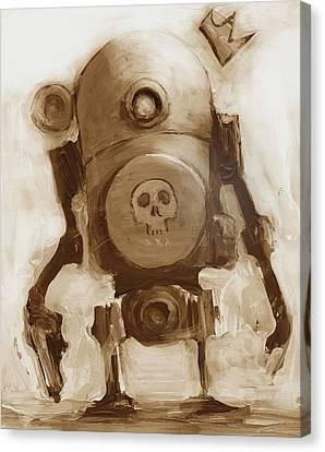 Basquibot Canvas Print by Matthew Schenk