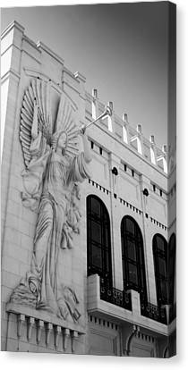 Bass Angel Bw Canvas Print by Lynnette Johns
