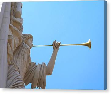 Bass Angel Canvas Print by Lynnette Johns