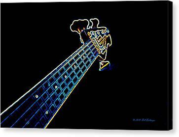 Bass Guitar Canvas Print by Bill