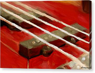 Bass Guitar Canvas Print by Jeff Montgomery