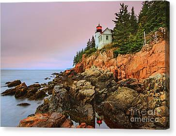 Bass Harbor Head Light - Maine Canvas Print by Henk Meijer Photography