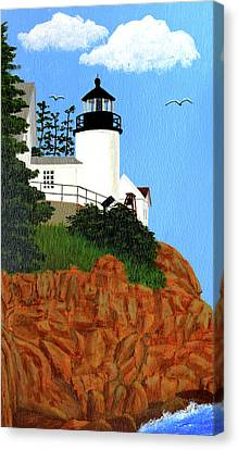 Bass Harbor Head Lighthouse Painting Canvas Print by Frederic Kohli