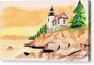 Bass Harbor Head Lighthouse Canvas Print